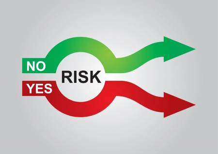 Abstract color graphics, about risk management Illustration