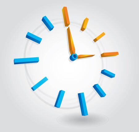 Time concept - illustration with abstract clock Vector