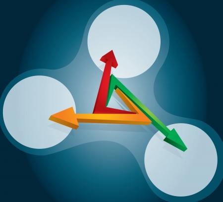planning diagram: Diagramma di flusso con le frecce e lo spazio dell'area di copia Vettoriali