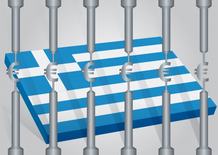Greece in the Euro behind the strictness Stock Vector - 14098624