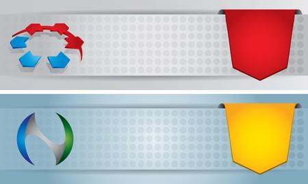 Website header or banner design set with sign Stock Vector - 14294031