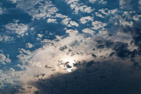beuty: Blue sunset sky with beuty cloud fragment