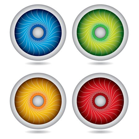 Abstract circle template set with decorative spiral Stock Vector - 14886665