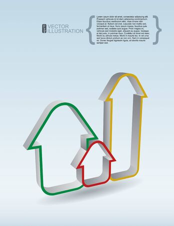 Template of real Estate - abstract illustration with color houses Ilustração