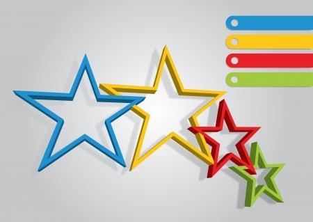 Étoiles couleur - modèle abstrait avec l'espace de copie espace