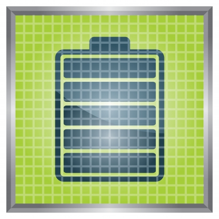 indicator panel: Battery Charge Indicator panel - abstract illustration with sign