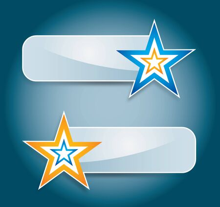 Label or web site banner set with star Stock Vector - 15031097