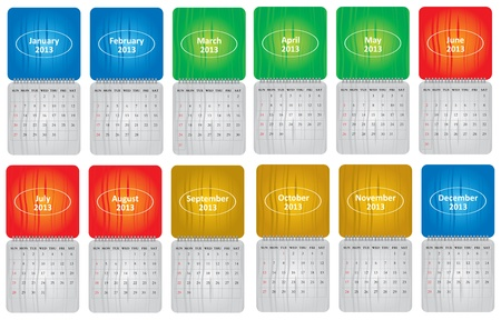 Classical monthly calendar for 2013 with abstract background Stock Vector - 15556541