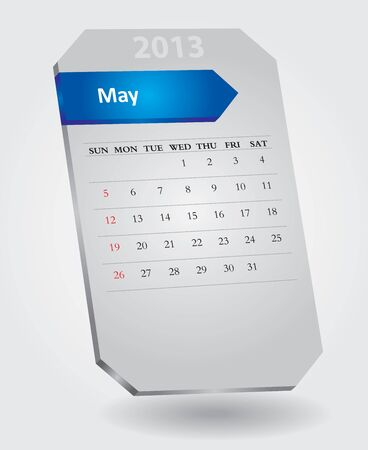 Classical monthly calendar for May, 2013 Stock Vector - 15682609