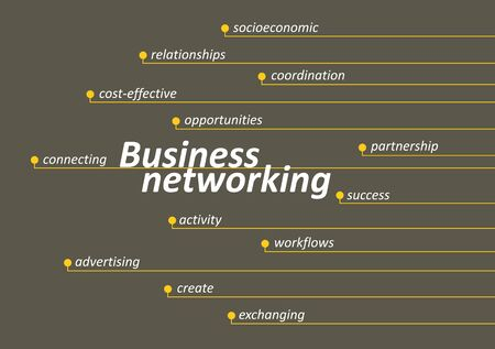 business networking: Business networking diagram with keys