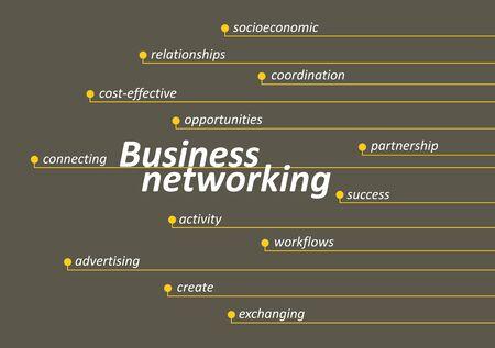 socioeconomic: Business networking diagram with keys