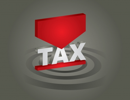 economise: Business concept - tax sign on abstract background
