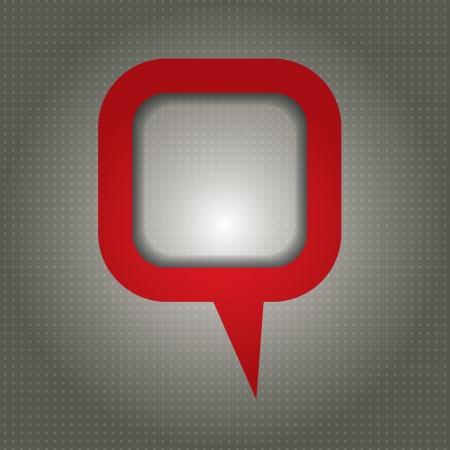 Concepto de comunicación - plantilla con la caja de diálogo y zona de espacio de la copia