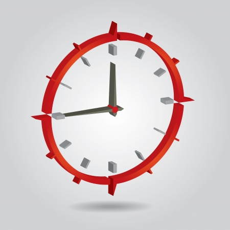 duration: Time concept -  illustration with abstract clock  Illustration