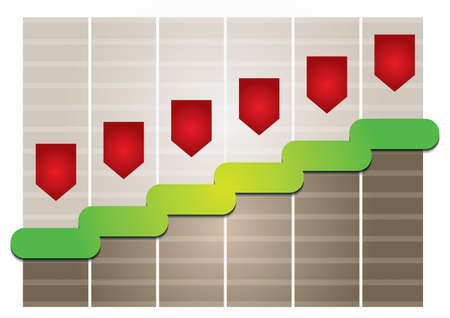 Graph of development, illustration with copy space area Stock Vector - 16908684