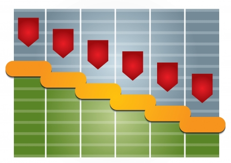 Graph of development, illustration with copy space area Stock Vector - 16908683