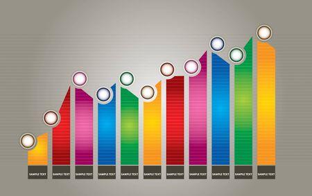Graph of development, illustration with copy spcea area