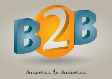 manufacturer: Business to bussiness - abstract color illustration with background