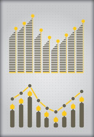 Graph of development, illustration with copy spcea area Stock Vector - 17372669
