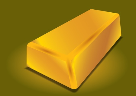 Gold bar - abstract illustration with background