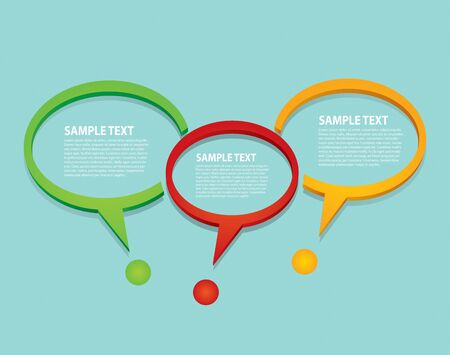Communication concept with speech bubble - template with copy space area  Stock Vector - 17695216