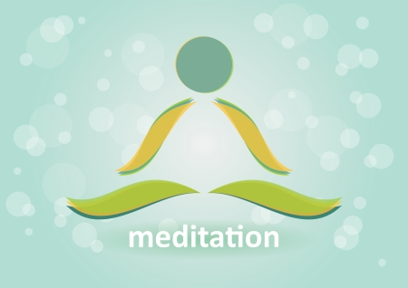 yoga to cure health: Meditation and relaxation - Symbol of harmony  Illustration