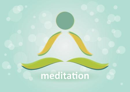 Meditation und Entspannung - Symbol der Harmonie Illustration
