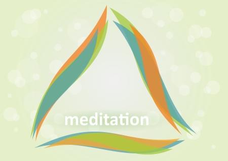 Méditation et relaxation - Symbole d'harmonie Illustration