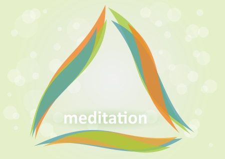 Meditation and relaxation - Symbol of harmony  向量圖像