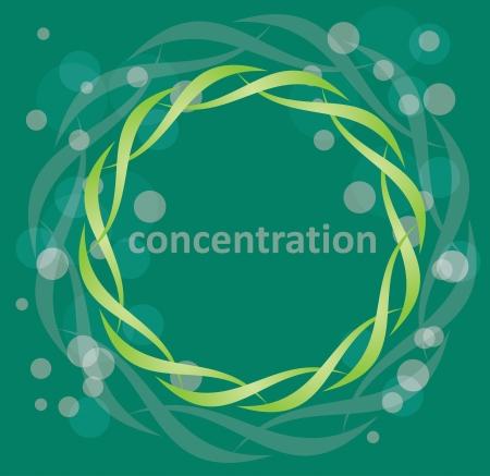 Konzentrationsvermögen - Symbol der Harmonie Illustration