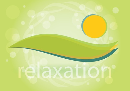 Relaxation - Symbol of harmony, bastract illustration  Vector