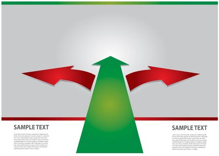 Communication concept with arrows - template with copy space area Stock Vector - 17695240