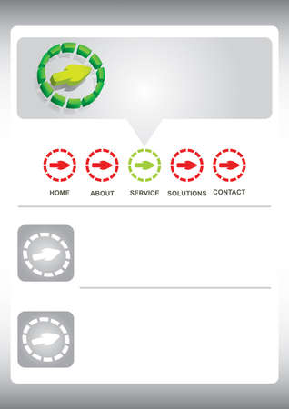 Web site template - business collection Stock Vector - 18293445