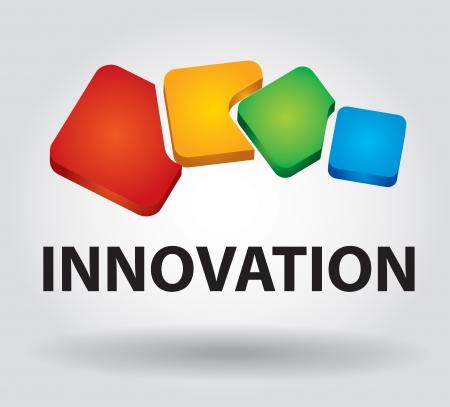 Business-Konzept, Innovation Symbol mit Text und Hintergrund