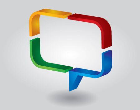 Concepto de comunicación - plantilla de cuadro de diálogo y el área de espacio de la copia