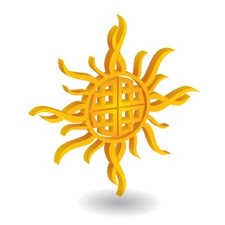 celtic sun - abstract illustration Stock Vector - 18970307