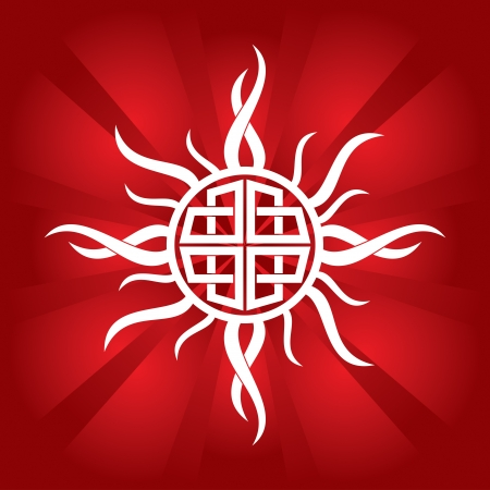 celtic sun - abstract illustration  Vector