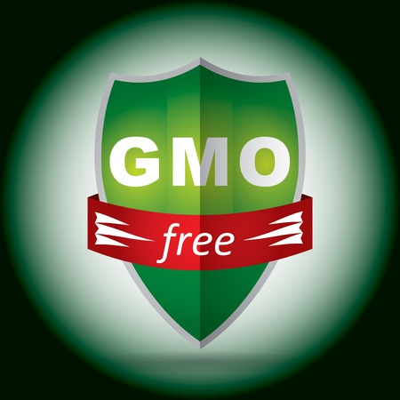 free genetically modifies plants sign Vector
