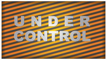 under control: Under control - Presentation template with orange lines
