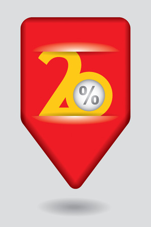pricetag: Discount price tags - abstract sticker illustration