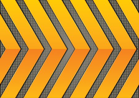 Abstract steel background with dots and orange arrows Vector