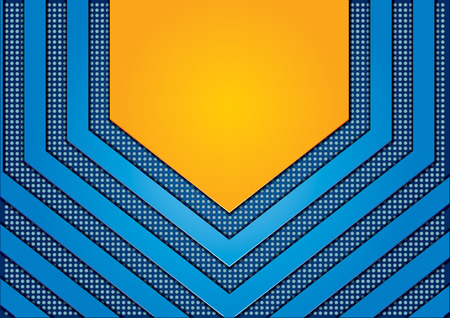 Abstract background with dots and orange arrows Vector