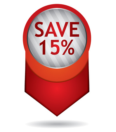 Price tag - vector design template Illustration