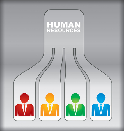 family discussion: Human resource concept - abstract illustration with sign