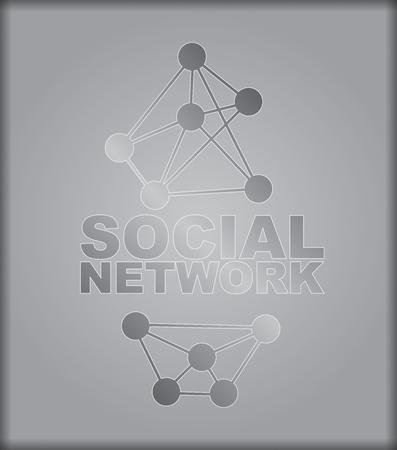 interconnected: Red social - ilustraci�n abstracta con el nodo de interconexi�n