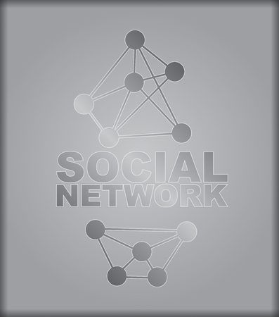 node: Social Network - abstract illustration with interconnected node