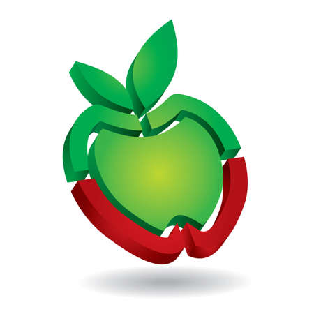 Apple – isolated abstract icon template Vector