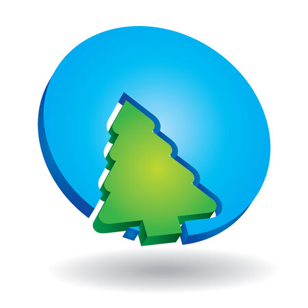 Ecology concept – abstract icon with pine tree Vector