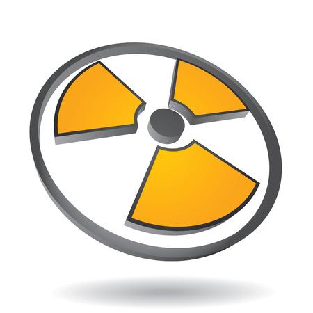 radioactive sign: Danger - Isolated radioactive sign