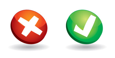 yes communication: Communication icon with yes or no sign